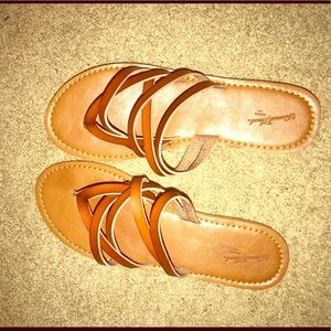 Shoes - Rust Sandals!(WORN ONCE)